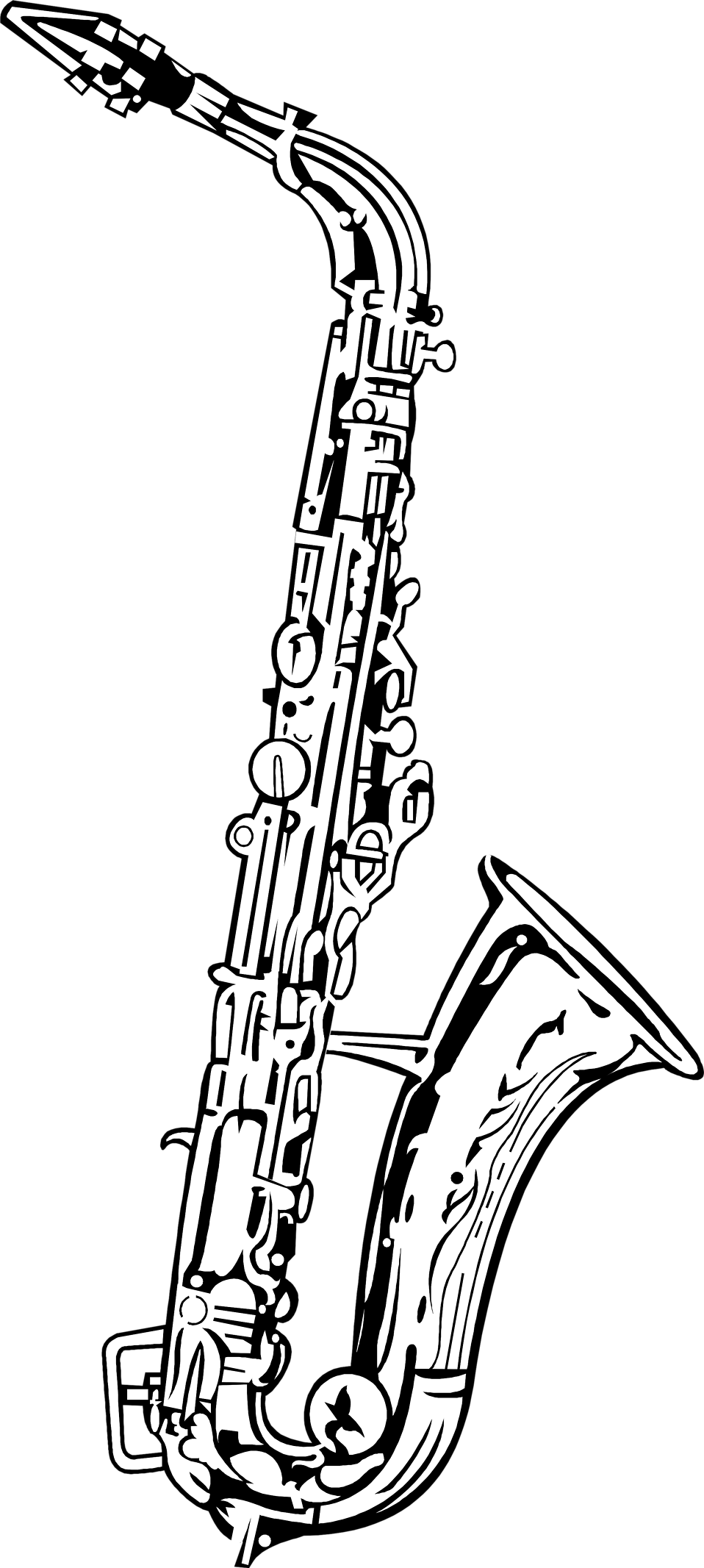 Illustration of a saxophone : Free Stock Photo