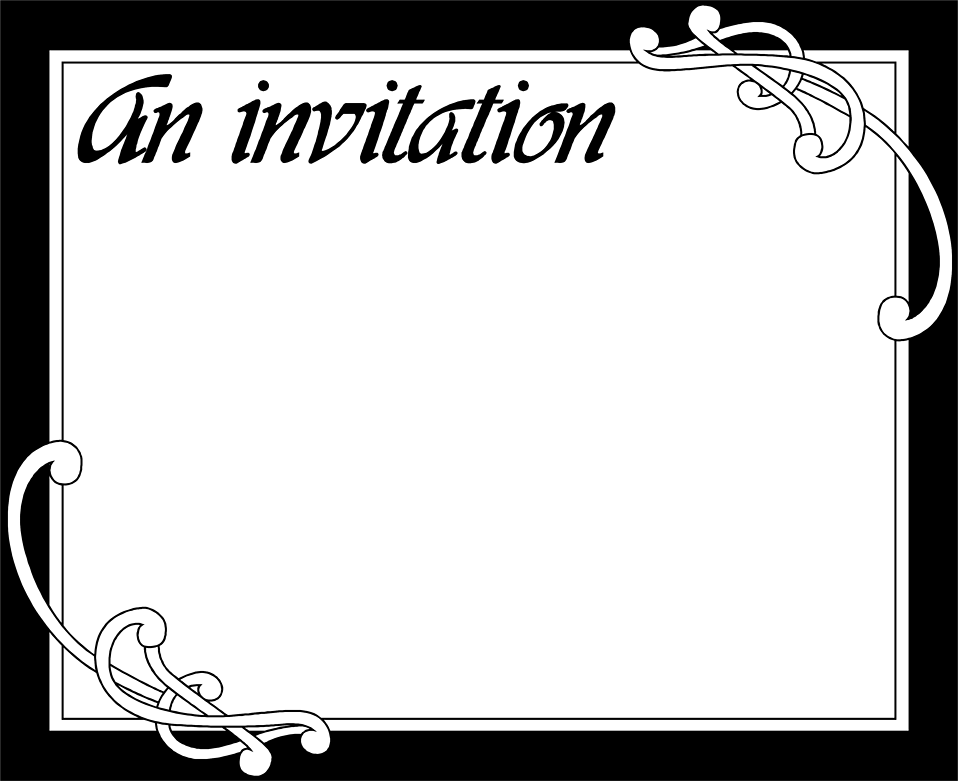 Illustration of a blank invitation : Free Stock Photo