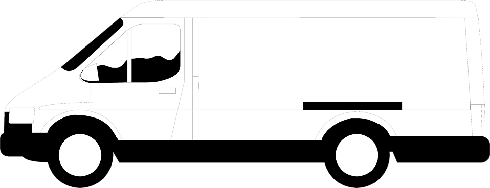 Illustration of a white van : Free Stock Photo