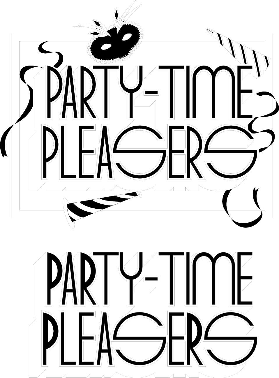 Illustration of party time pleasers signs : Free Stock Photo