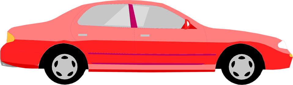 Illustration of a red sedan : Free Stock Photo