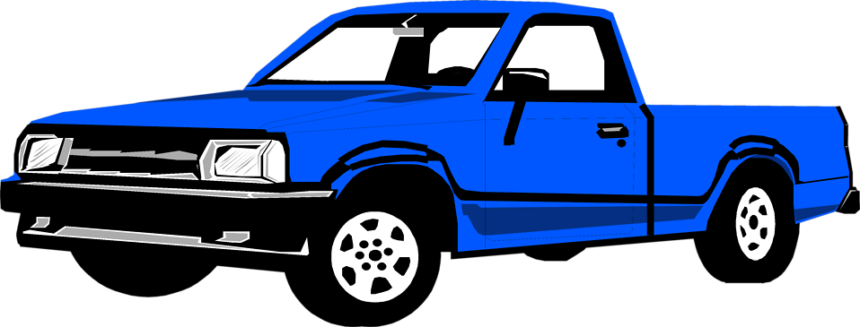 Illustration of a blue pickup truck : Free Stock Photo
