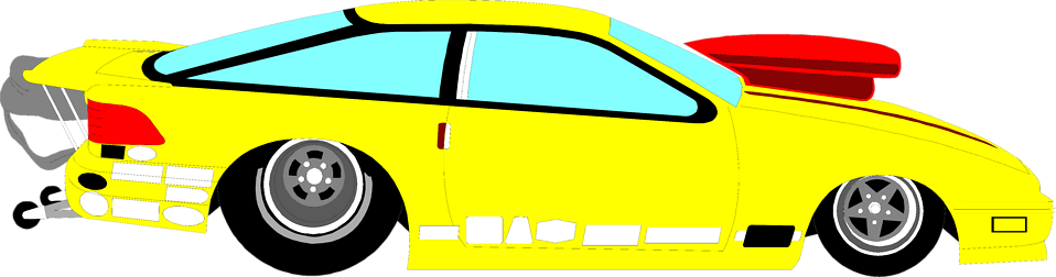 Illustration of a yellow racecar : Free Stock Photo