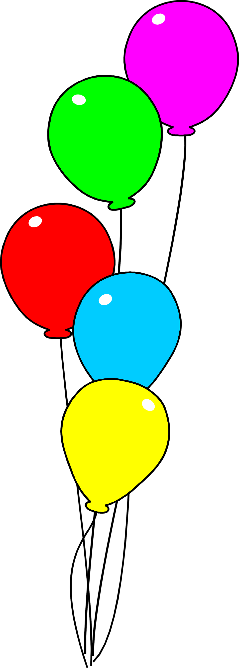 Illustration of colorful balloons.