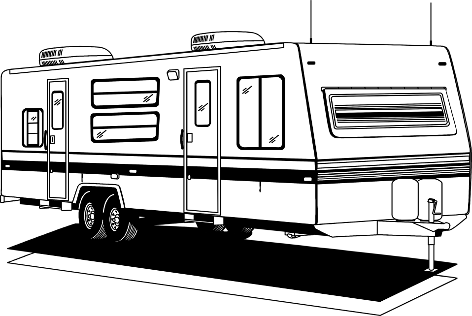 Illustration of an rv trailer : Free Stock Photo