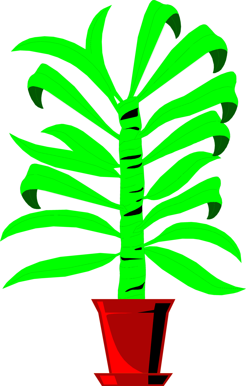 Illustration of a plant with large green leaves : Free Stock Photo