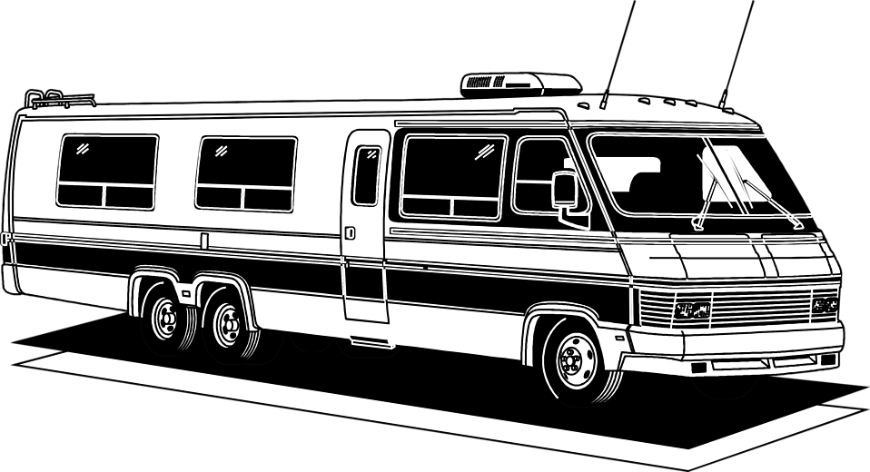 Illustration of a long RV : Free Stock Photo