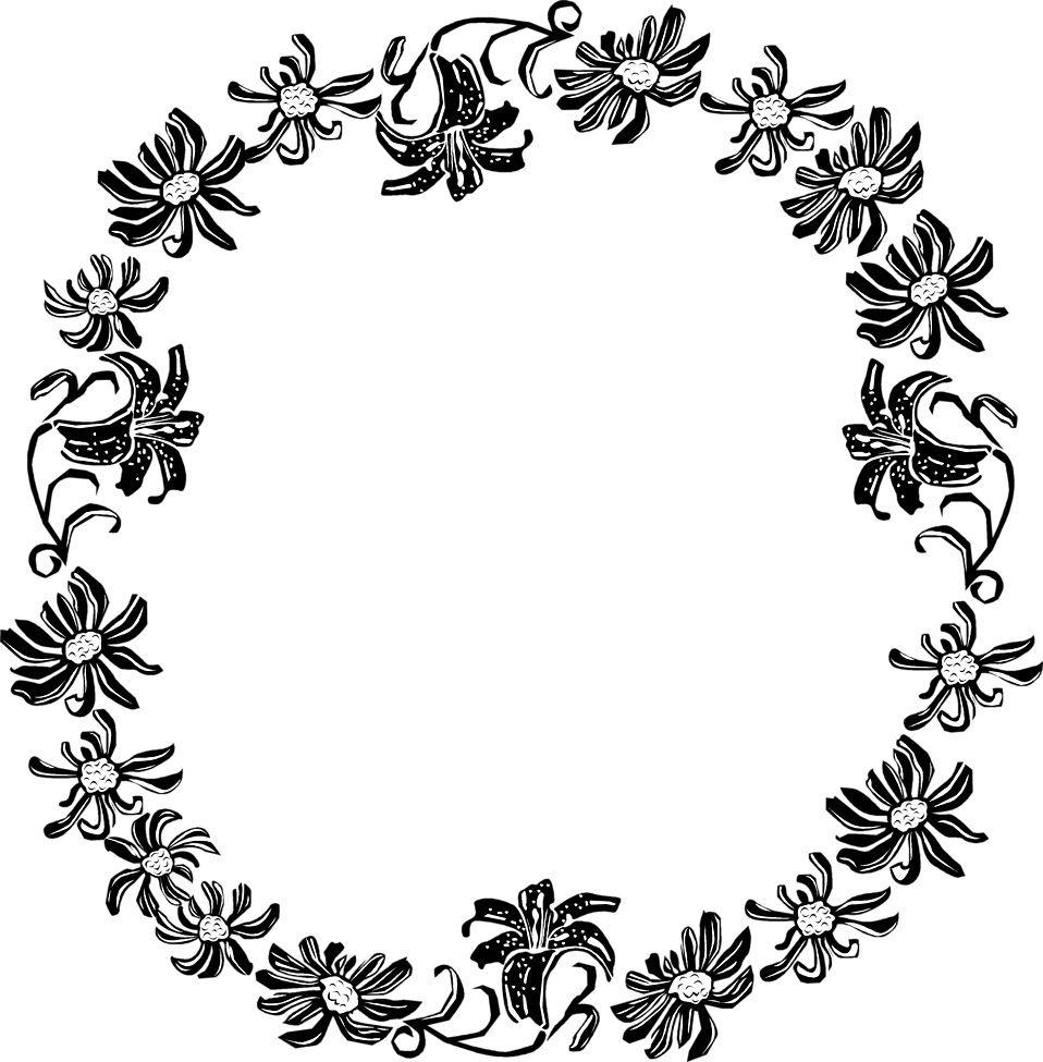 Illustration of a floral frame border : Free Stock Photo
