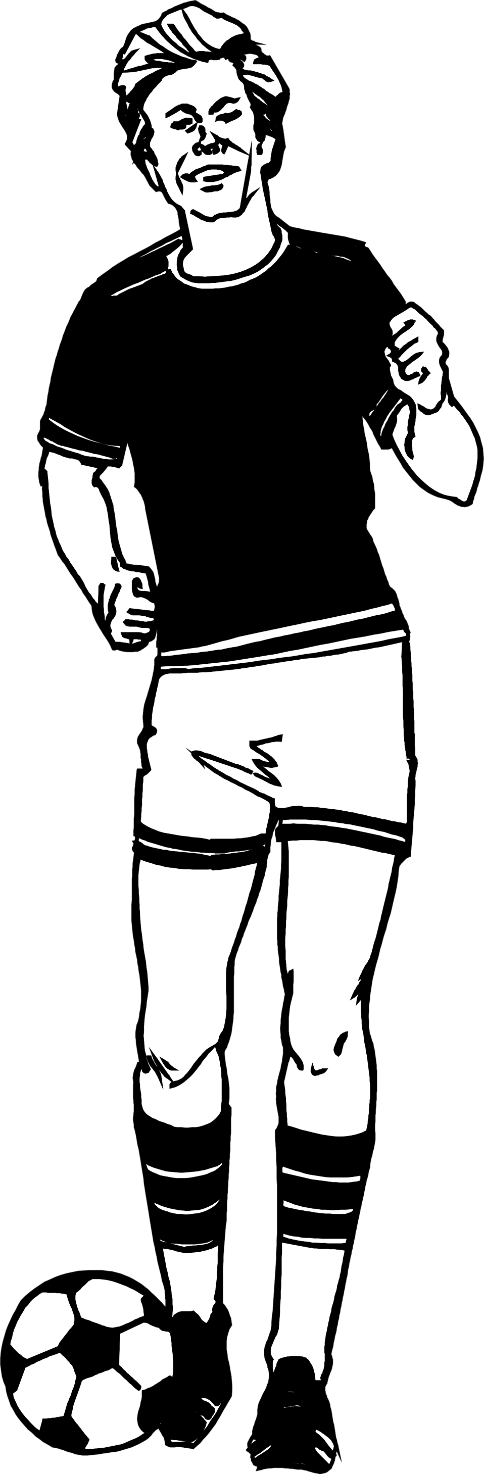 Illustration of a soccer player : Free Stock Photo