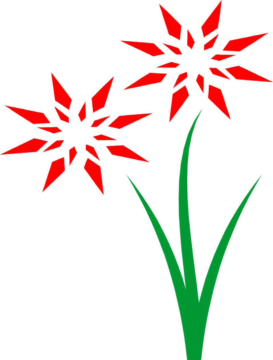 Illustration of red flowers : Free Stock Photo
