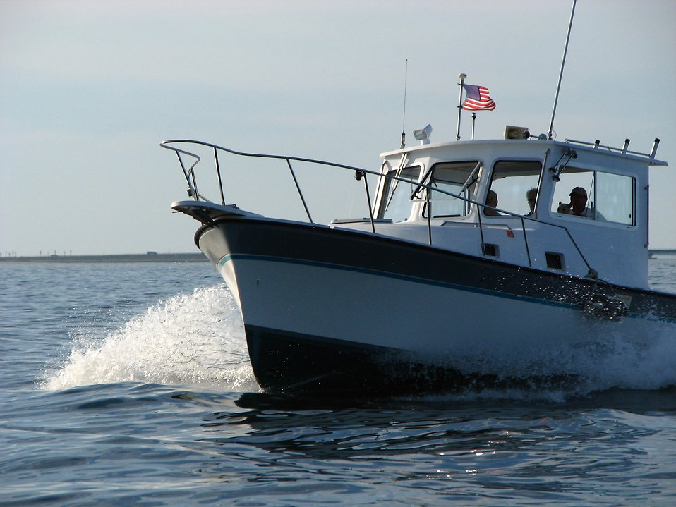 A motorboat on the ocean : Free Stock Photo
