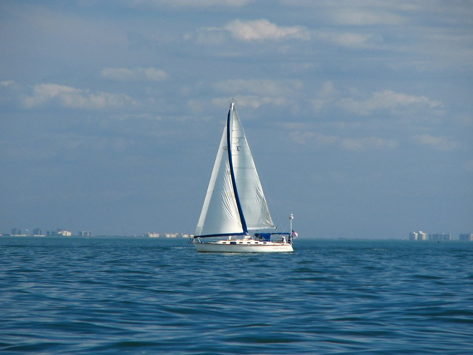 A sailboat on the ocean : Free Stock Photo