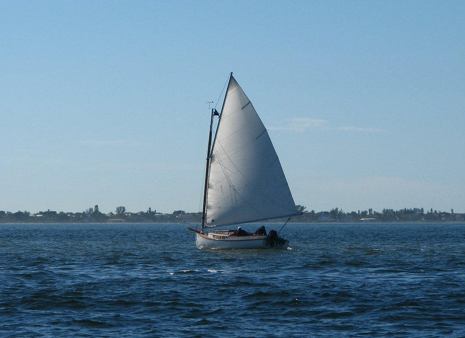 A sailboat in the ocean : Free Stock Photo