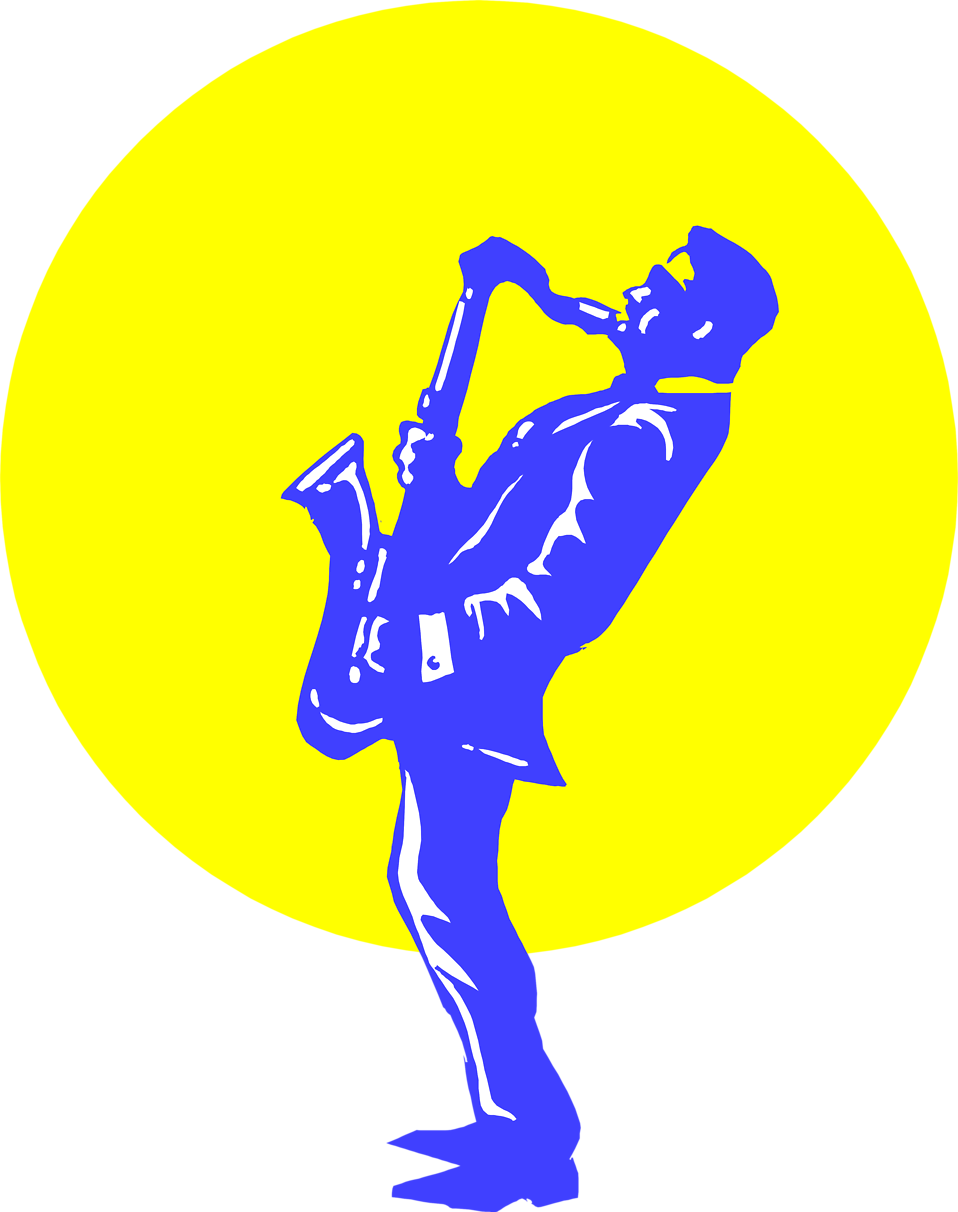 Illustration of a man playing a saxophone : Free Stock Photo