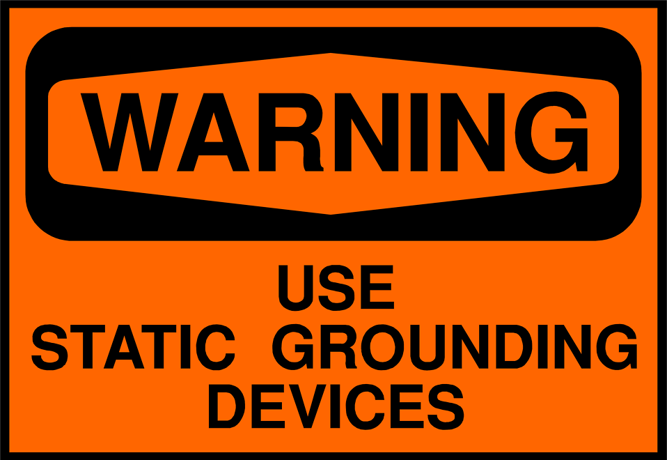 Illustration of a static grounding device warning sign : Free Stock Photo