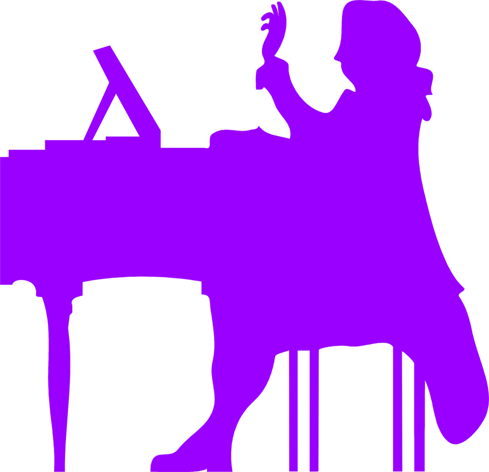 Illustration of a silhouette of a pianist : Free Stock Photo