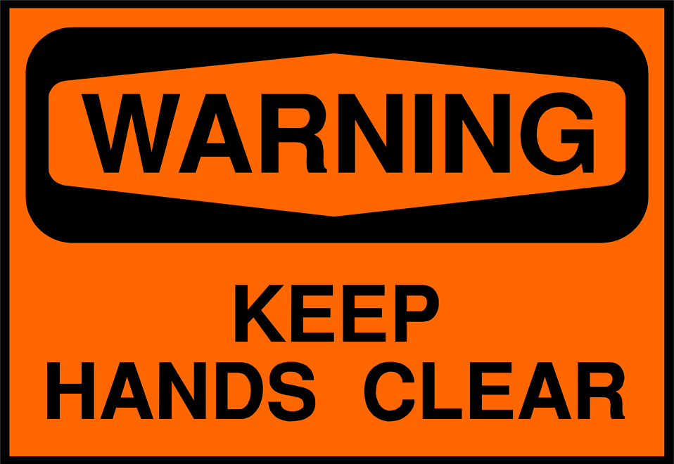 Illustration of hands clear warning sign : Free Stock Photo