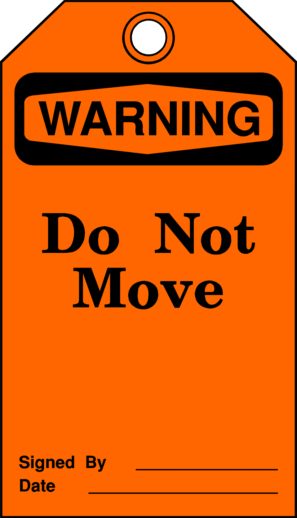 Illustration of a do not move warning tag : Free Stock Photo