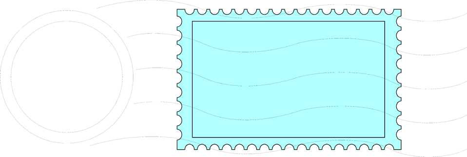 Illustration of a postmarked stamp : Free Stock Photo
