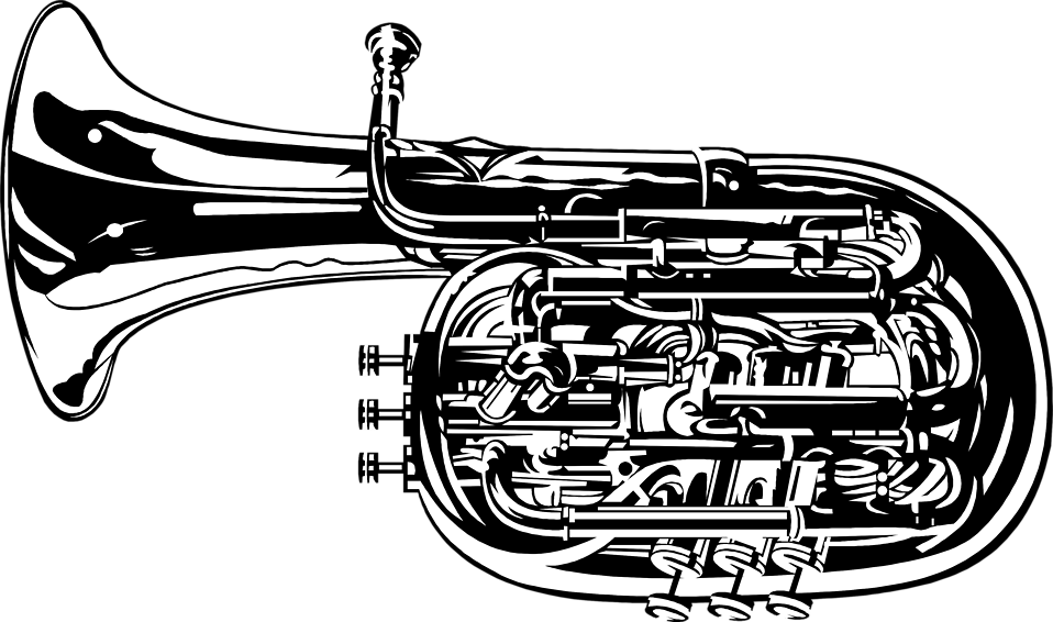 Illustration of a tuba : Free Stock Photo