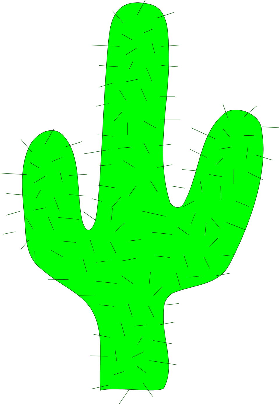 Illustration of a cactus : Free Stock Photo