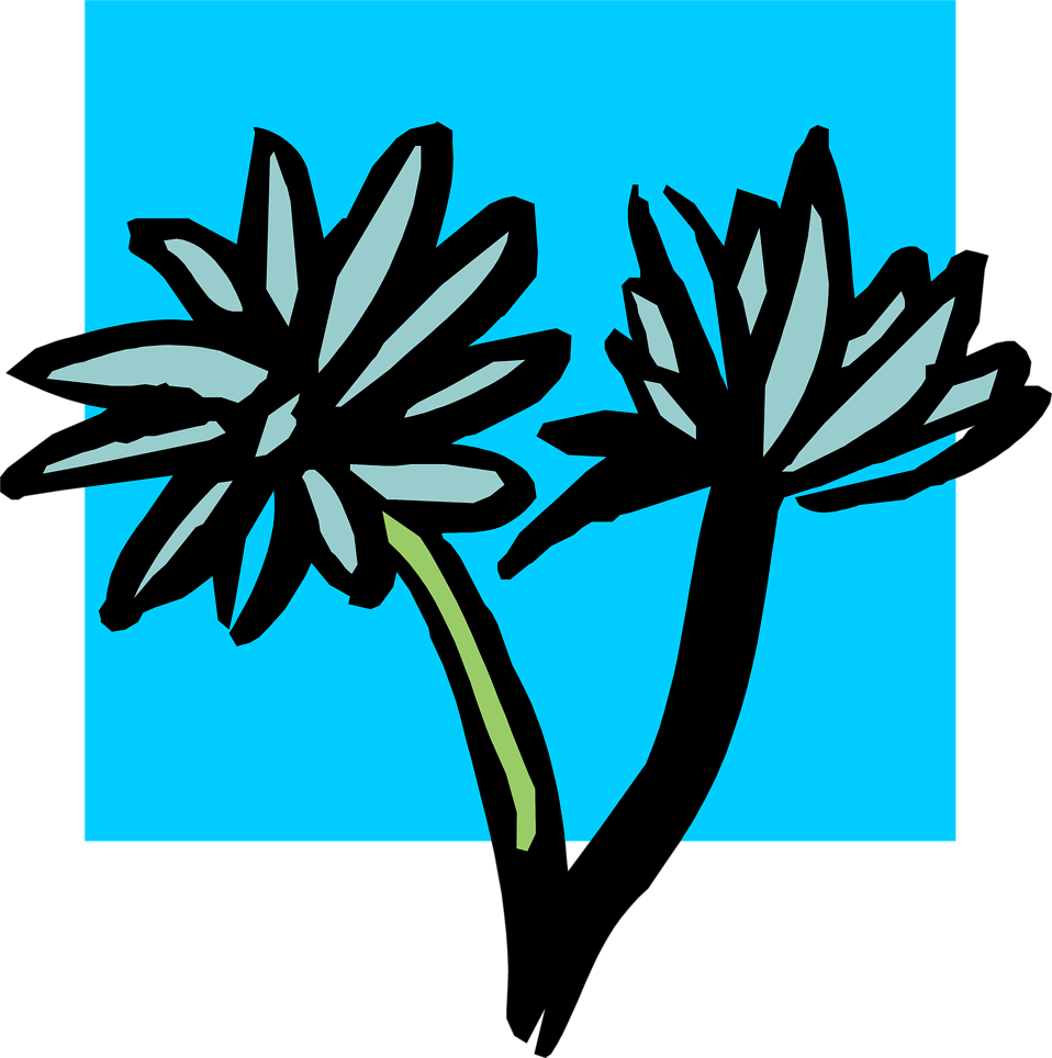 Illustration of blue flowers : Free Stock Photo