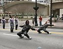 Free Stock Photo: A marching band in the 2010 Atlanta Saint Patrick's Day Parade