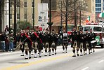 Free Stock Photo: Men marching with bagpipes at the 2010 Atlanta Saint Patrick's Day Parade