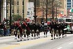 Free Stock Photo: Men marching with bagpipes at the 2010 Atlanta Saint Patrick's Day Parade
