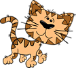 Free Stock Photo: Illustration of a cartoon cat walking