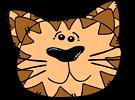 Free Stock Photo: Illustration of a cartoon cat face