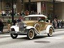 Free Stock Photo: An antique car in the 2010 Saint Patricks Day Parade in Atlanta, Georgia