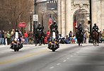 Free Stock Photo: Police officers on motorcycles and horses in the 2010 Saint Patricks Day Parade in Atlanta, Georgia