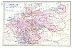 Free Stock Photo: A vintage map of Germany