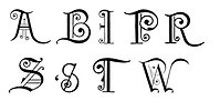 Free Stock Photo: Vintage illustration of fancy letters