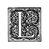 Free Stock Photo: Vintage illustration of an ornate letter L