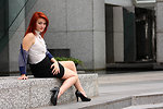 Free Stock Photo: A beautiful young woman in business attire