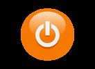 Free Stock Photo: Illustration of an orange power button icon