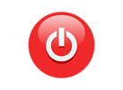 Free Stock Photo: Illustration of a red power button icon
