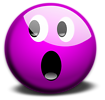 Free Stock Photo: Illustration of a purple smiley face