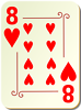 Free Stock Photo: Illustration of an Eight of Hearts playing card