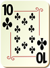 Free Stock Photo: Illustration of a Ten of Clubs playing card