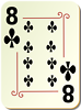 Free Stock Photo: Illustration of a Eight of Clubs playing card