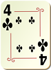 Free Stock Photo: Illustration of a Four of Clubs playing card