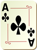 Free Stock Photo: Illustration of an Ace of Clubs playing card
