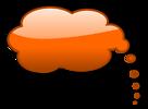 Free Stock Photo: Illustration of an orange cartoon speech bubble