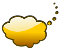 Free Stock Photo: Illustration of a yellow cartoon speech bubble