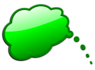 Free Stock Photo: Illustration of a green cartoon speech bubble