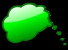 Free Stock Photo: Illustration of a green cartoon speech bubble