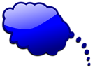 Free Stock Photo: Illustration of a blue cartoon speech bubble